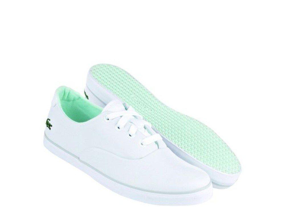 63c08f867e0b Dámske bielo-zelené textilné tenisky Lacoste