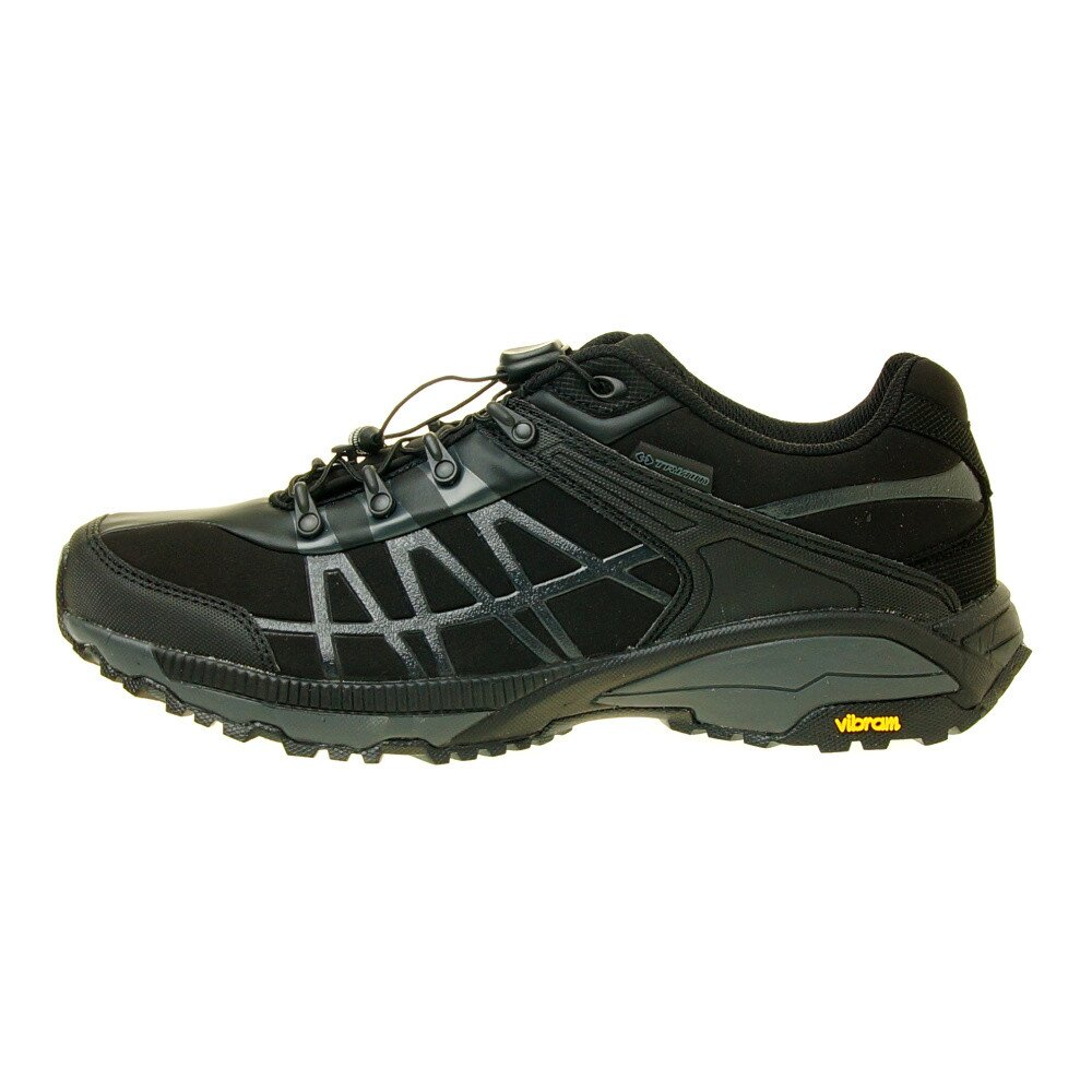 Pánske čierne trekingové topánky s modrým detailom Trimm  9b98966a0bb