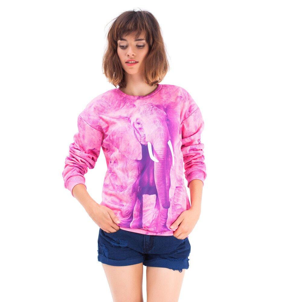7eb3ad08ef18 Dámsky ružový sveter so slonom Mr. GUGU   Ms. GO