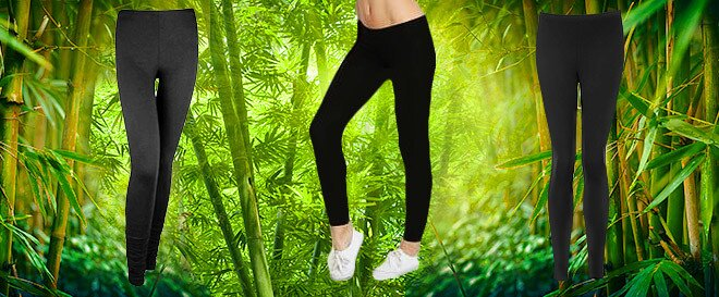 576b516bd244 Dámske legíny z bambusového vlákna