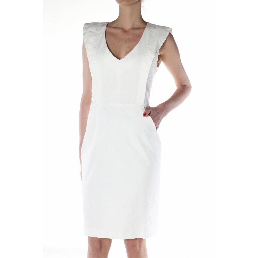 d92161d44b91 Dámske biele púzdrové šaty Gene