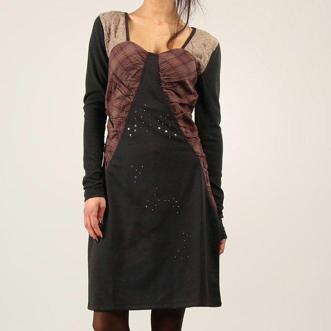 4e35b1f87f Dámske trojfarebné šaty s čipkou Angels Never Die