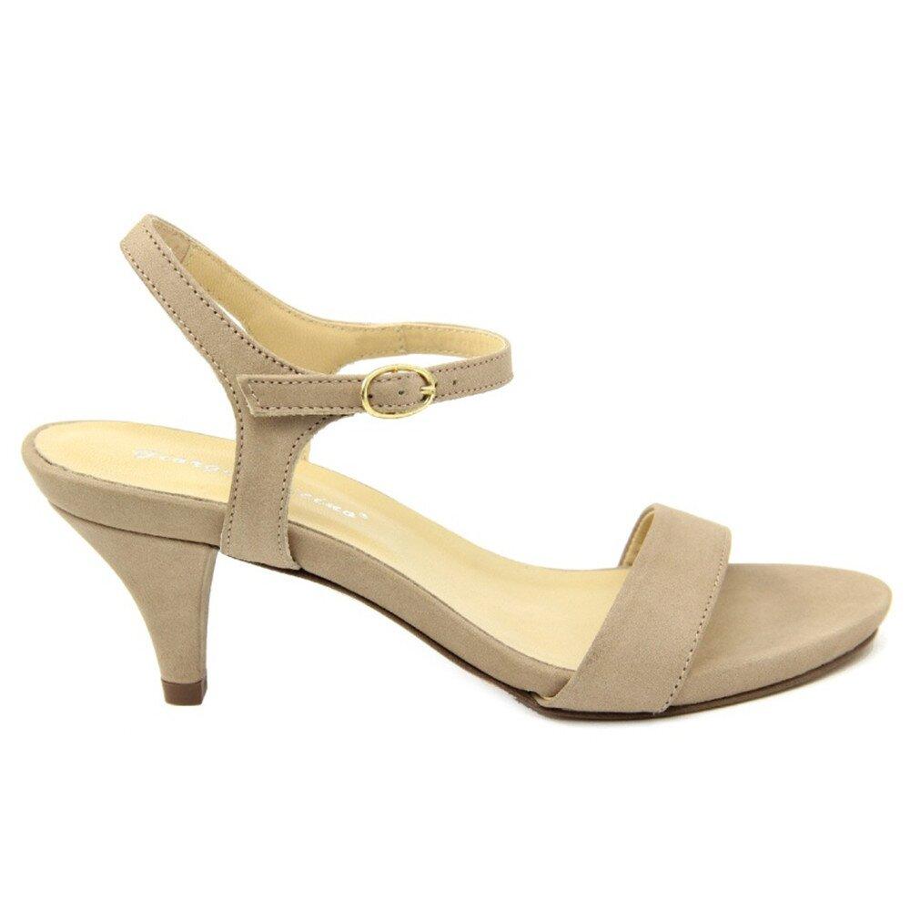 b098bc5dd Dámske béžové kožené sandále na nízkom opätku Giorgio Picino   Zlavomat.sk