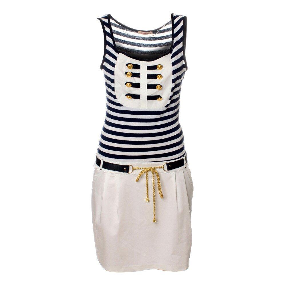 c8b164da5cc9 Dámske biele námornícke šaty Via Bellucci