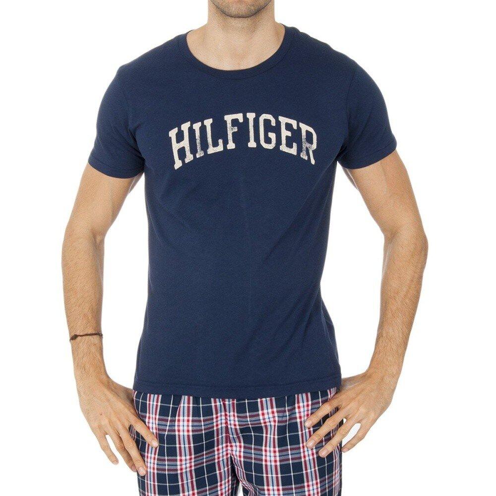 Pánske tmavo modré tričko s nápisom Tommy Hilfiger  b98e51ca8d