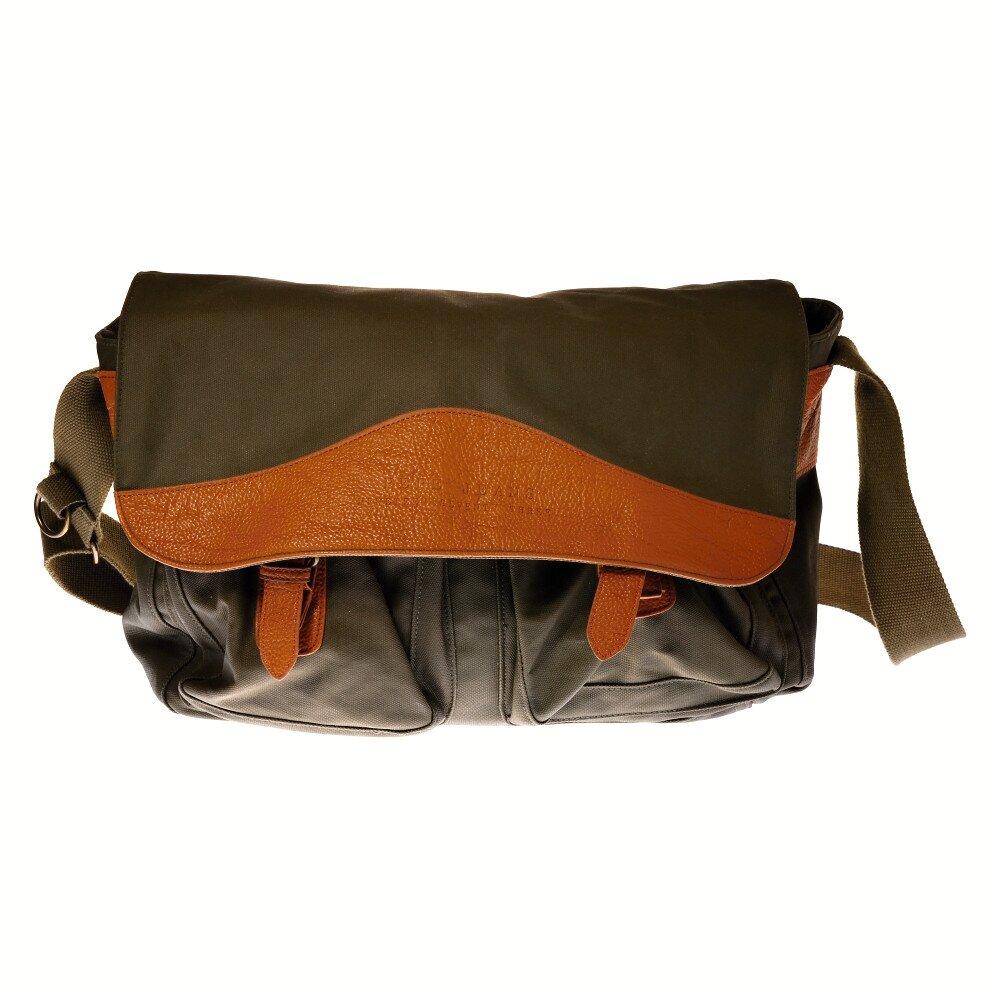 9824cdc8df Pánska tmavo zelená taška cez rameno Pepe Jeans