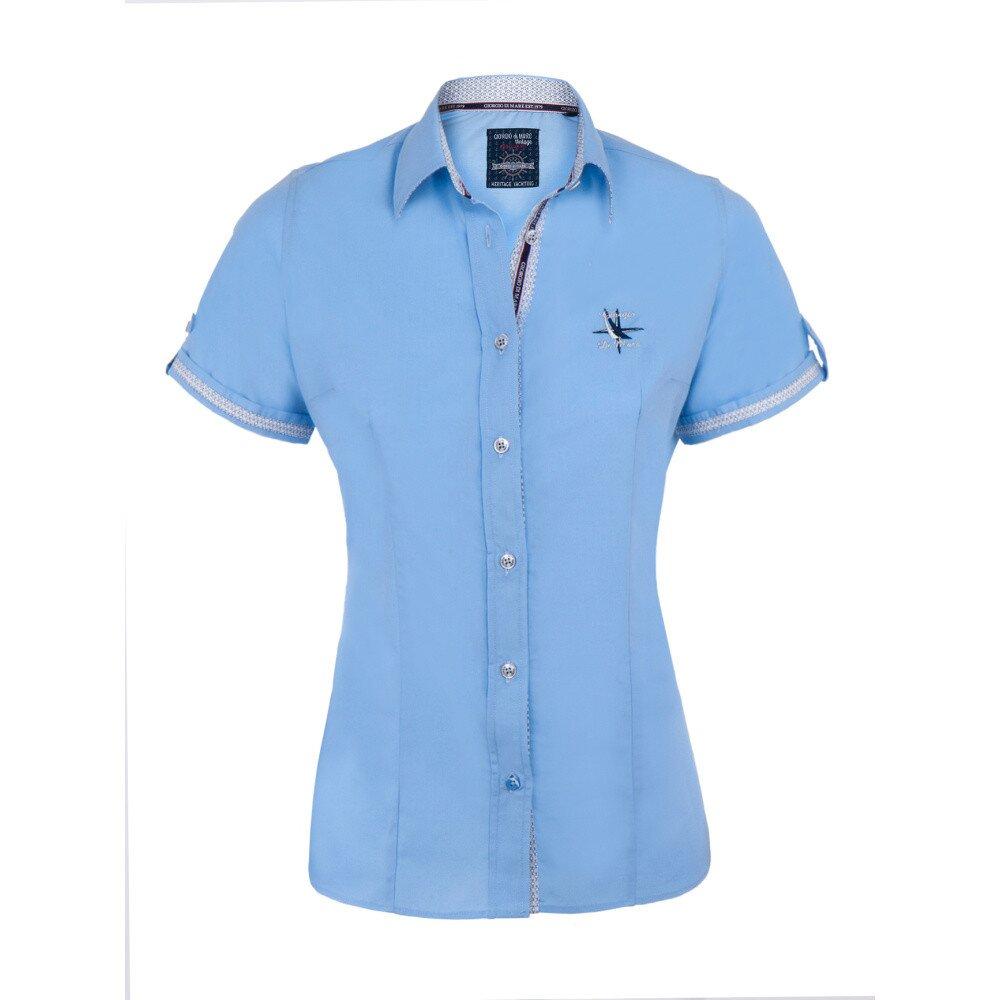 99a1b253b84b Dámska svetlo modrá košeľa s krátkym rukávom Giorgio di Mare ...
