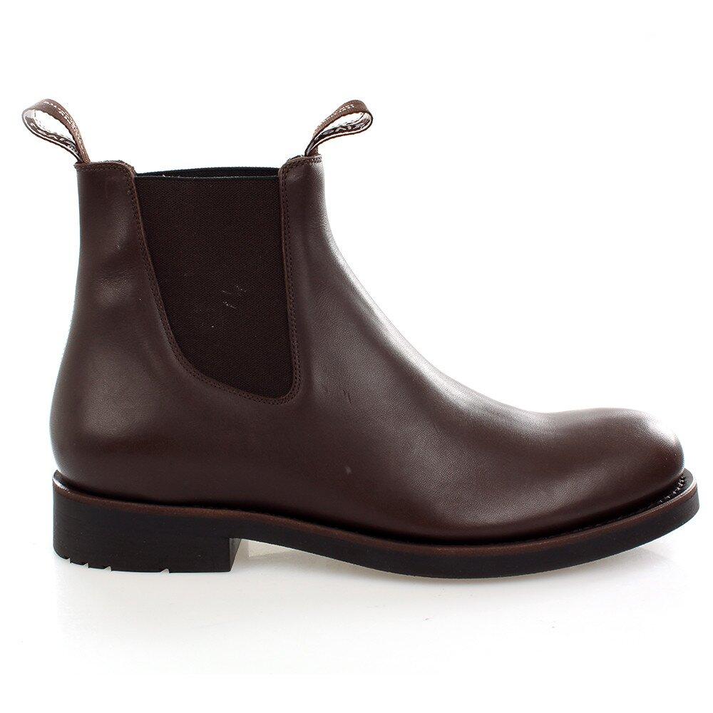Pánske tmavo hnedé kožené chelsea boots Levis 939256eec04