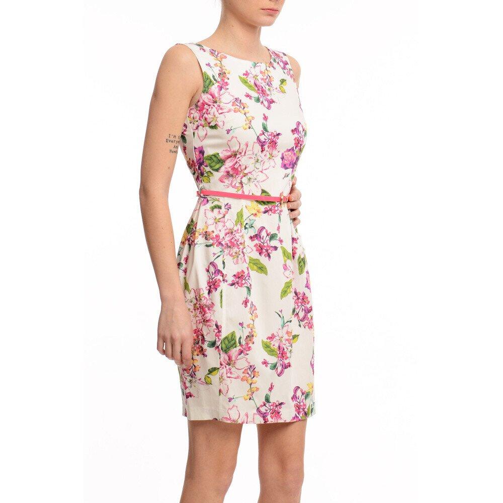3392482f203e Dámske púzdrové šaty s kvetinovou potlačou Butik 7279