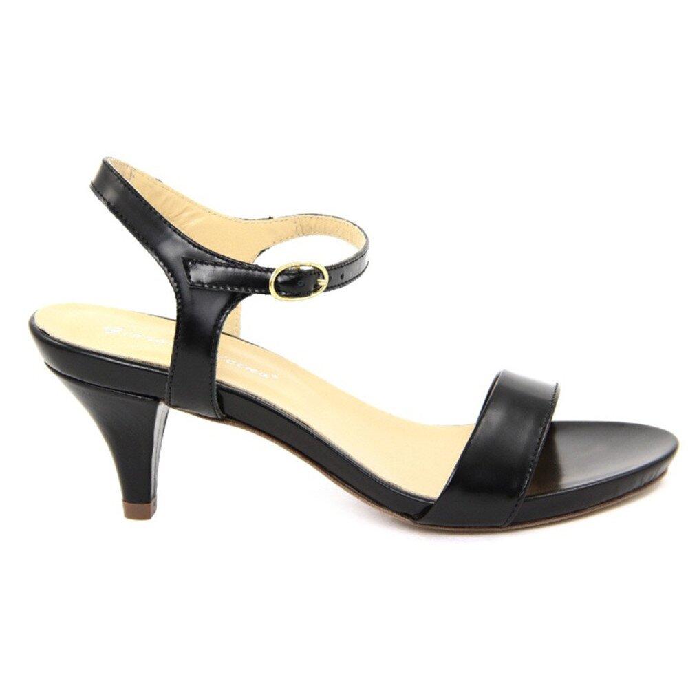 a91b1671c Dámske čierne kožené sandále na nízkom opätku Giorgio Picino   Zlavomat.sk