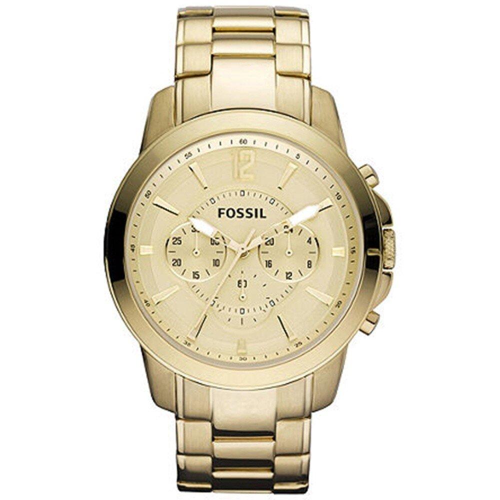f6ada25d6 Pánske zlaté hodinky s chronografom Fossil   Zlavomat.sk