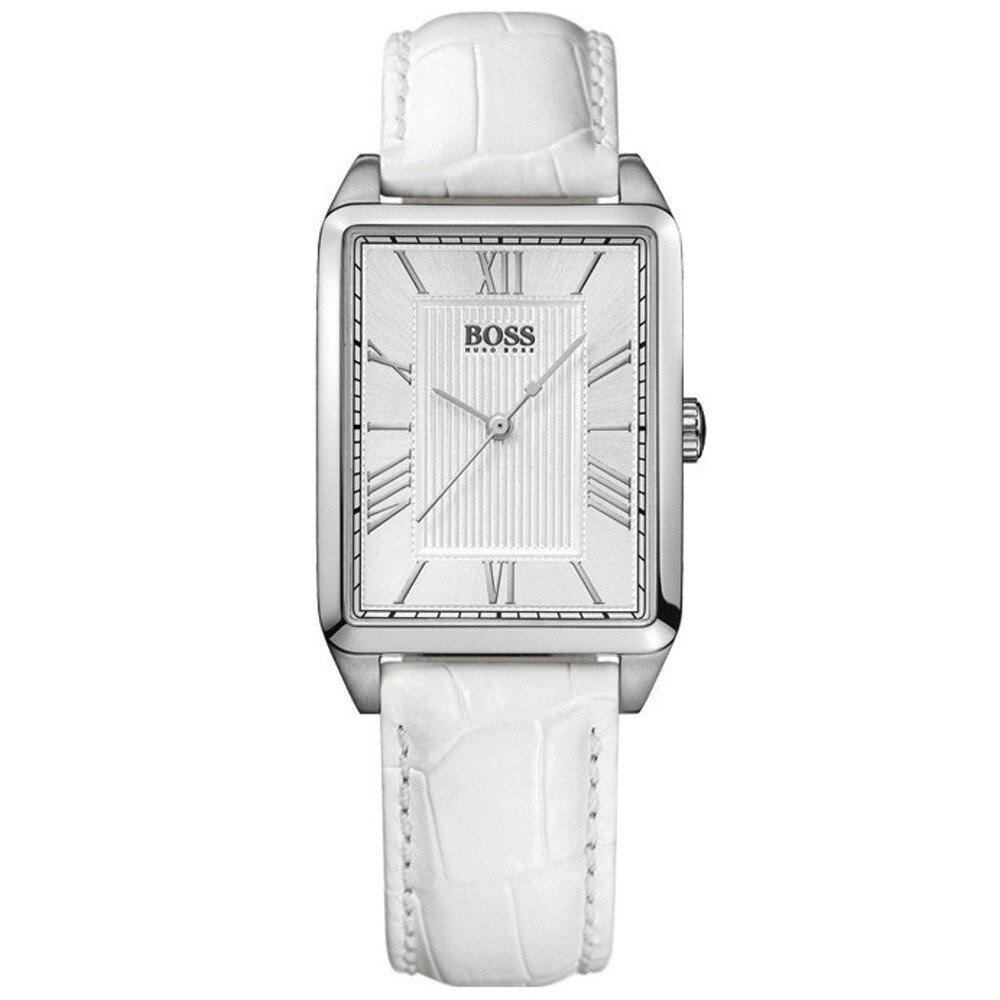Dámske strieborné hranaté hodinky s bielym ciferníkom Hugo Boss Orange  f15be80c09c