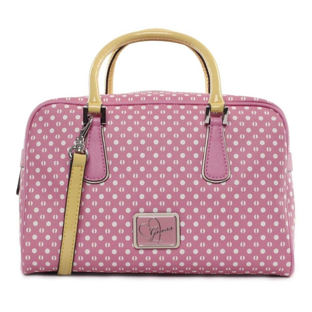 Dámska ružová kabelka s bodkami Guess  0e0be1ecb5d