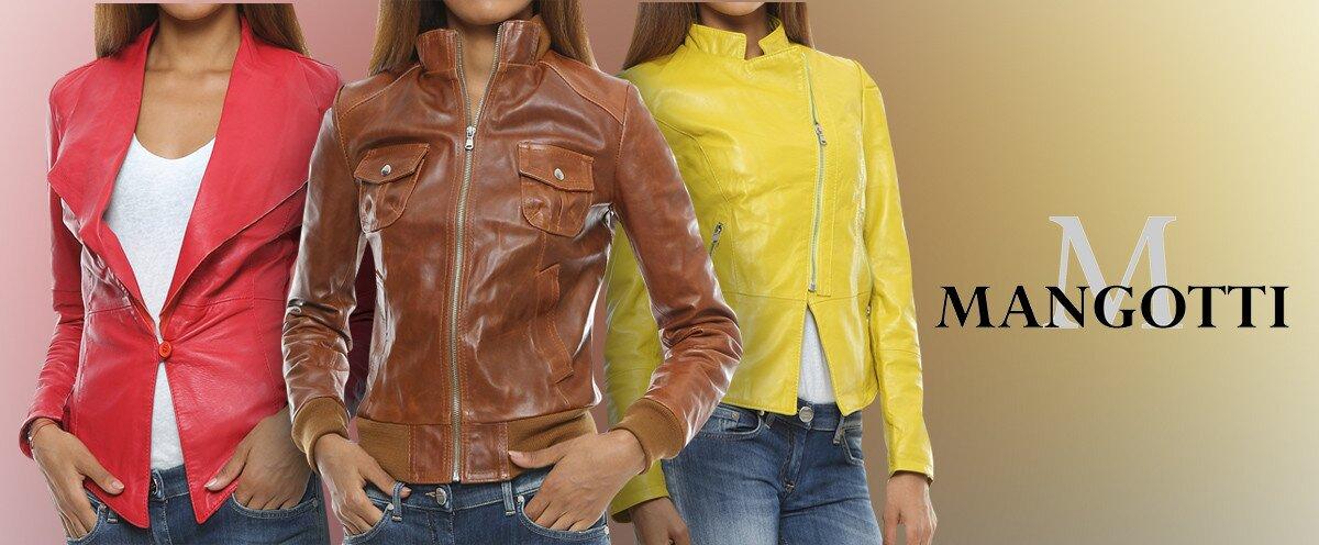 0c1dcc9cdc10 Luxusné dámske kožené bundy a saká Mangotti