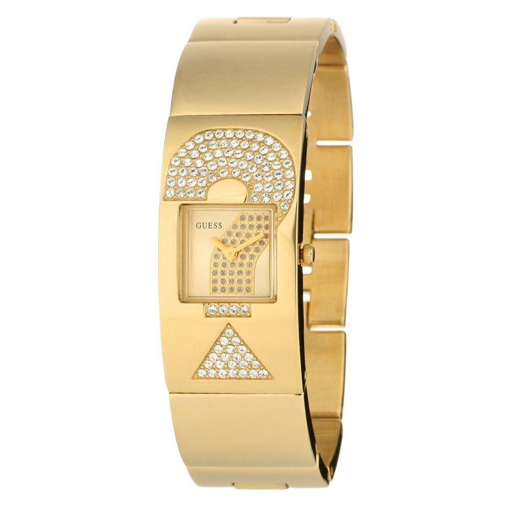 Dámske zlaté hodinky Guess s kamienkami  e4be5114d1