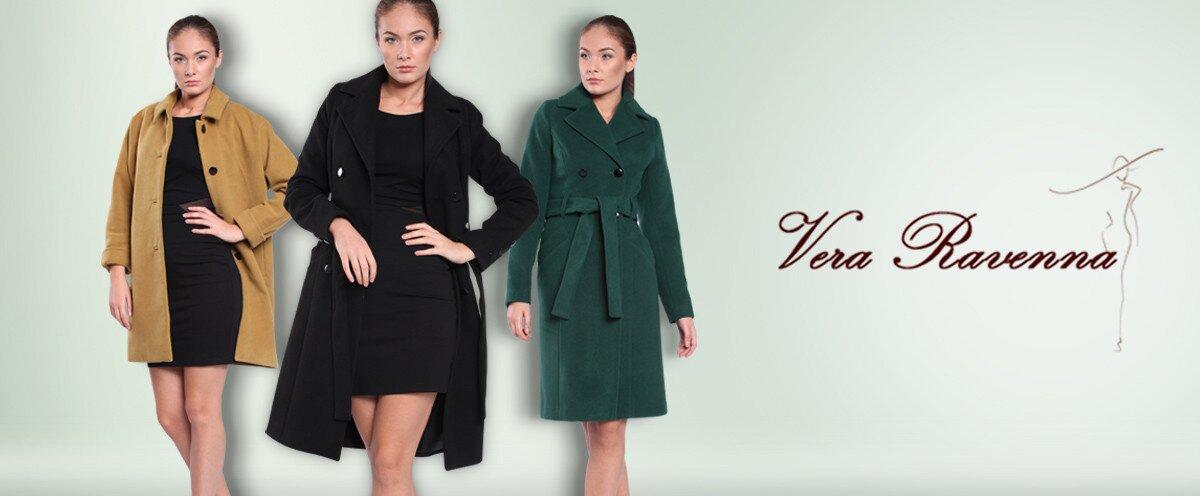 Dámske farebné kabáty Vera Ravenna  1bf133e1904