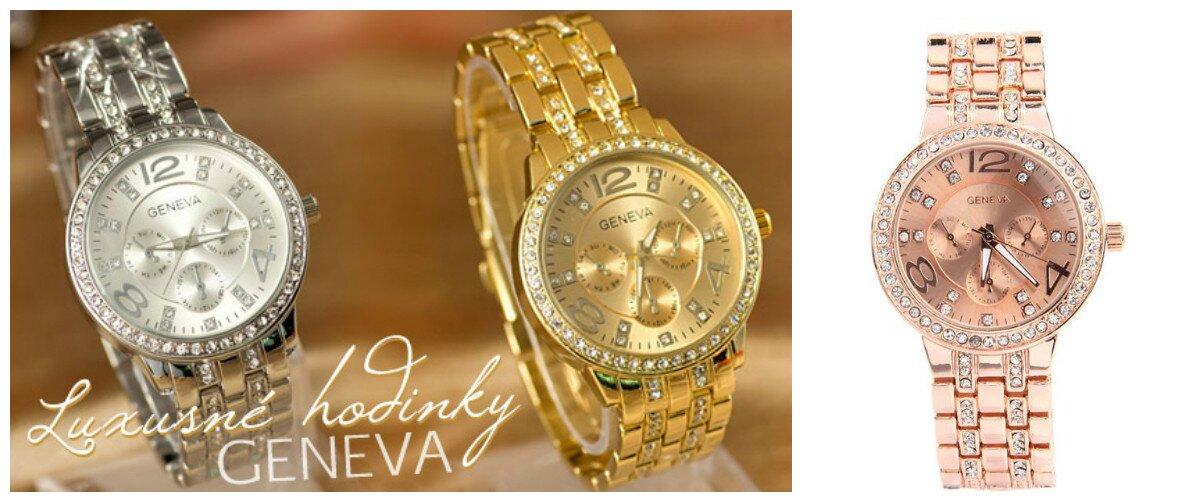 Luxusné dámske hodinky s kryštálmi Swarovski Elements v 3 farbách ... a0814876624