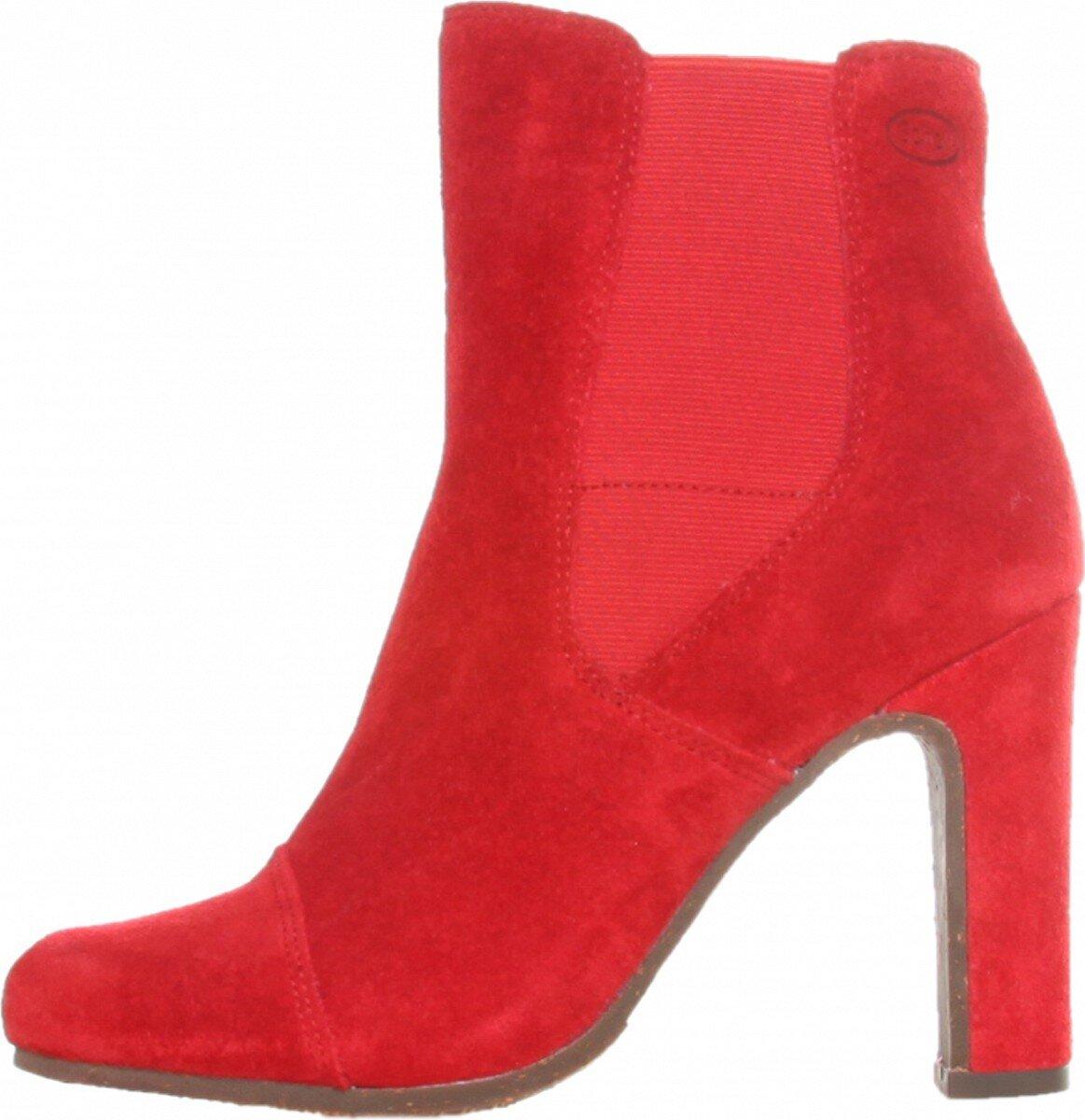Dámske červené kotníkové čižmy Dr. Scholl  d2307ddb4d0