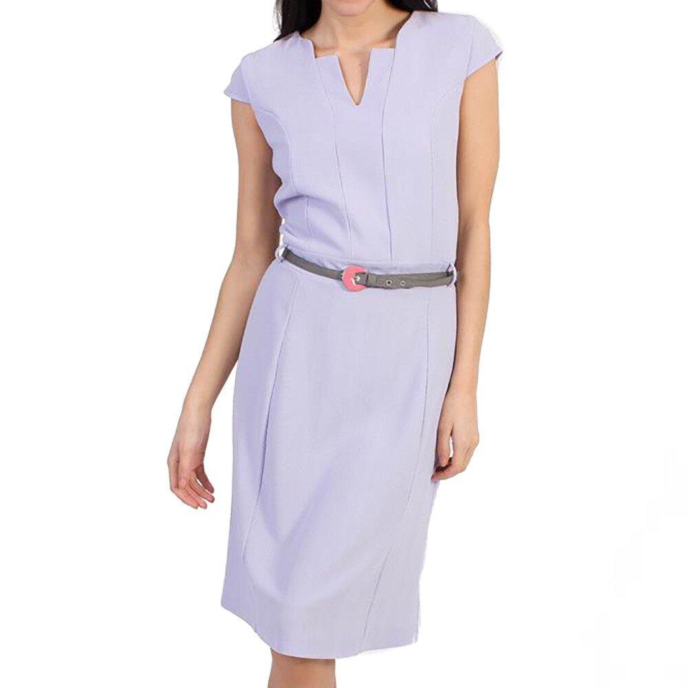 Dámske fialové púzdrové šaty s opaskom Pepper Tree 56f92d7ccda