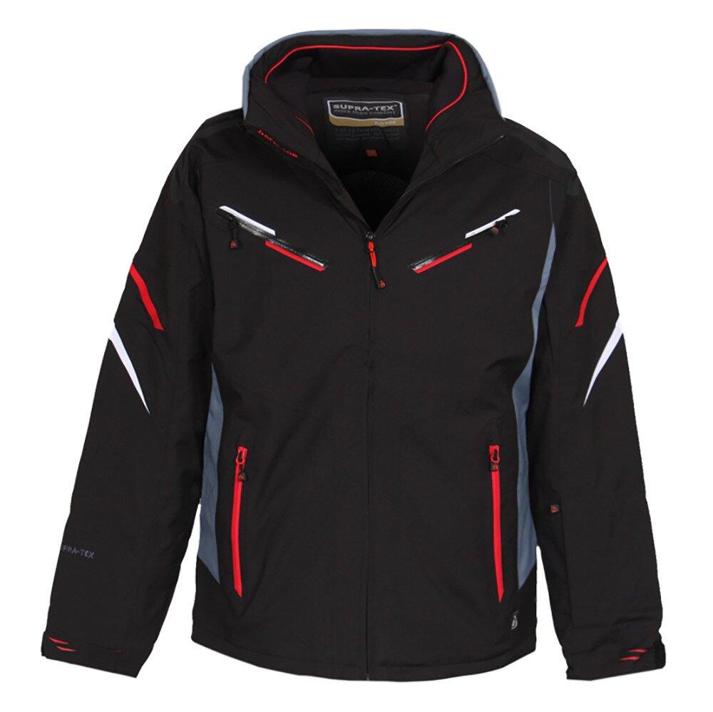 a8a4b2101bea Pánska čierna lyžiarska bunda s membránou a červenými prvkami Bergson