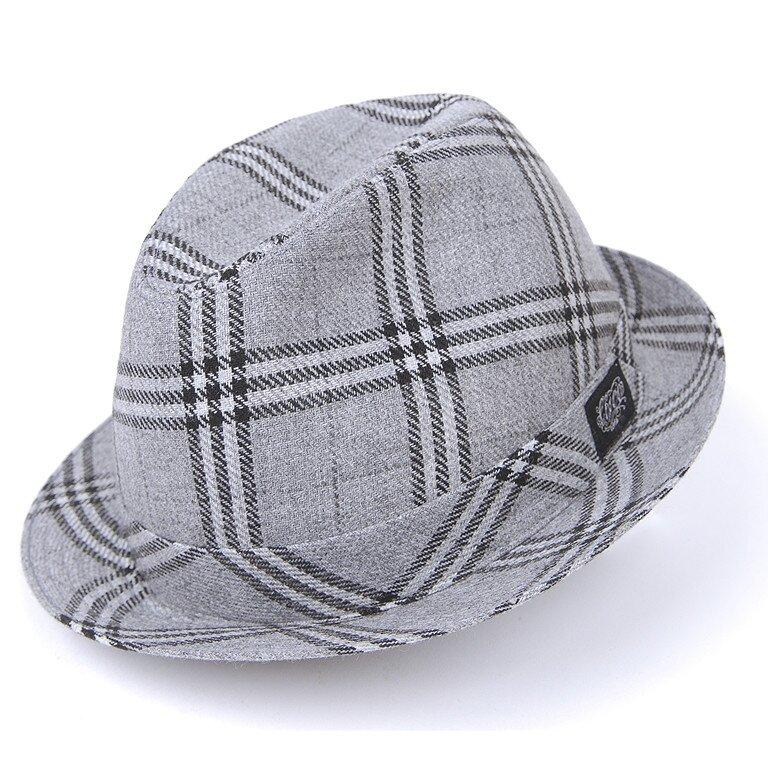25772172b Pánsky šedý károvaný klobúk Chico | Zlavomat.sk