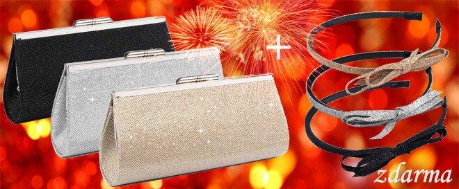 f20eb94e2006 Elegantná kabelka na sviatočné chvíle + čelenka zdarma