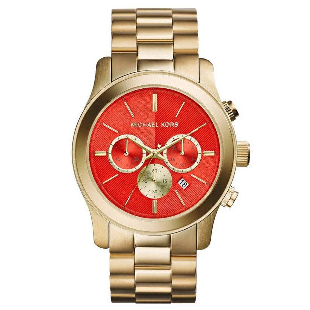 fc64e690b Dámske oceľové pozlátené hodinky s červeným ciferníkom Michael Kors |  Zlavomat.sk