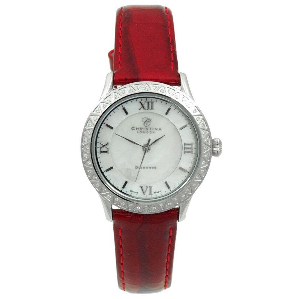9497d4ce00 Dámske hodinky s diamantmi a červeným remienkom Christina London