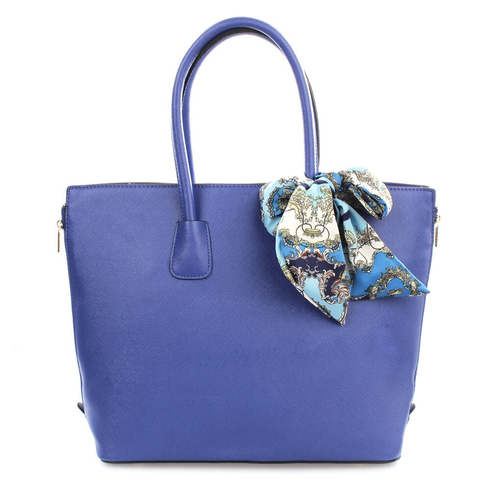 Dámska modrá kabelka so šatkou Gessy  1606ce7088e