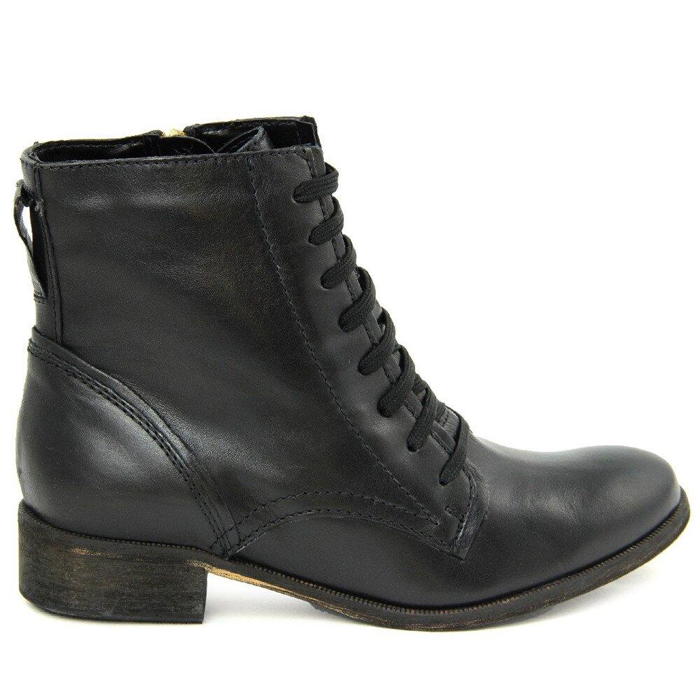 d11e7b03ed2c Dámske čierne šnurovacie členkové topánky so zipsom Giorgio Picino ...