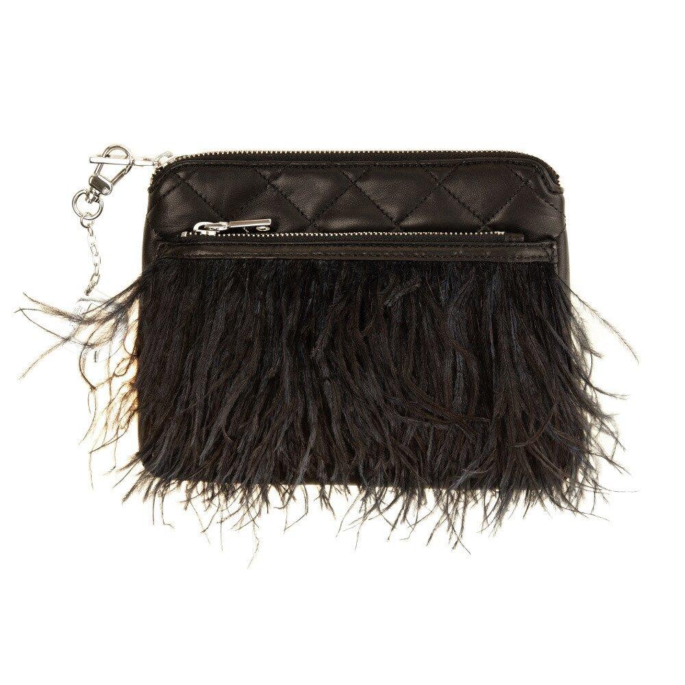 96a47d62265 Dámska prešívaná listová kabelka s jemnými pierkami DKNY