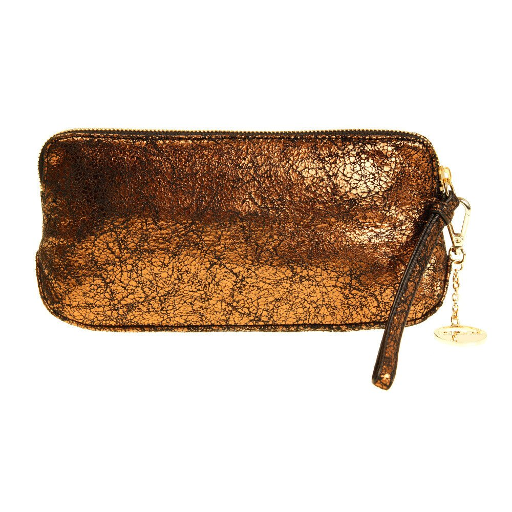 4268b22a4c Dámska zlatá listová kabelka DKNY