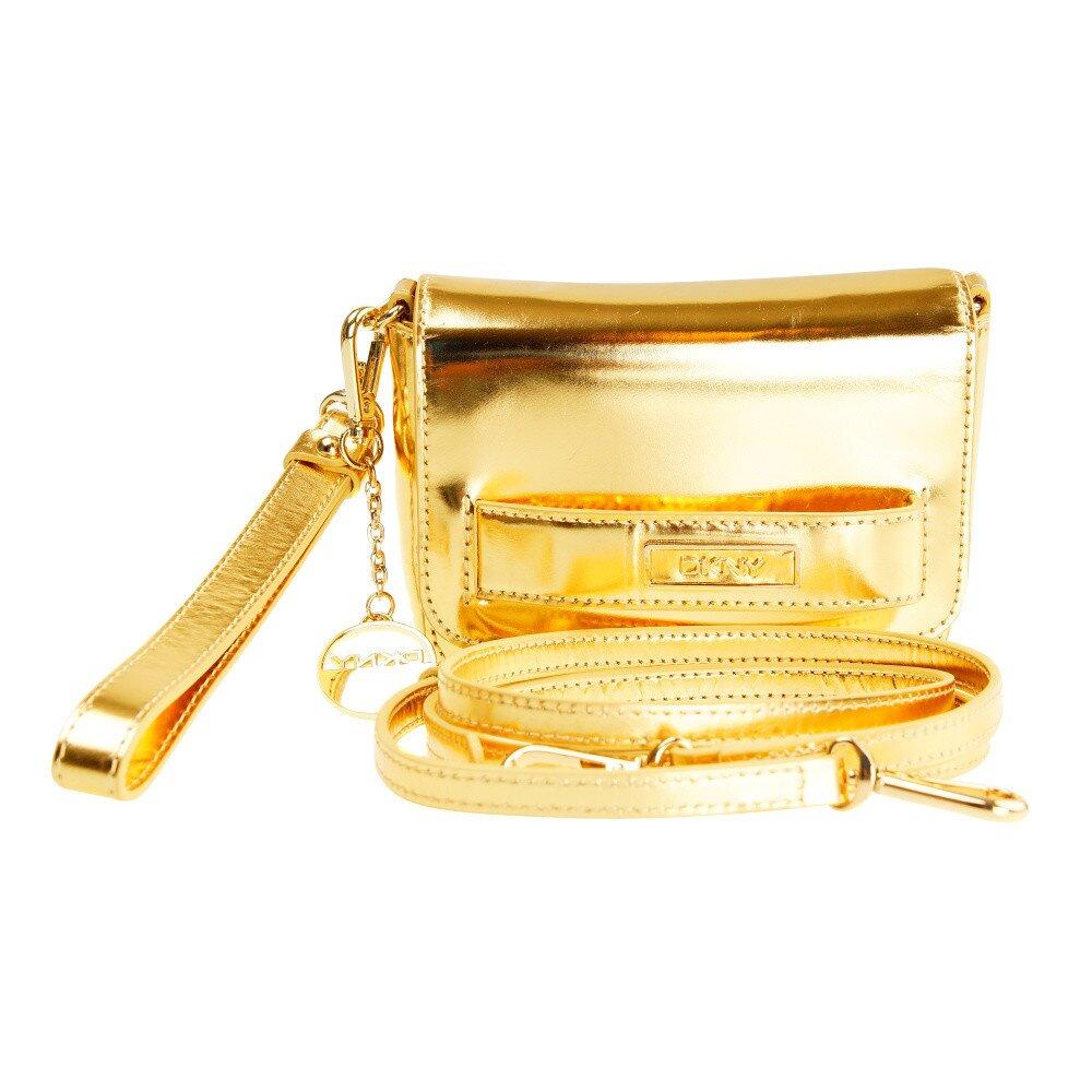 00f4932ccc Dámska zlatá listová kabelka s odnímateľným popruhom DKNY