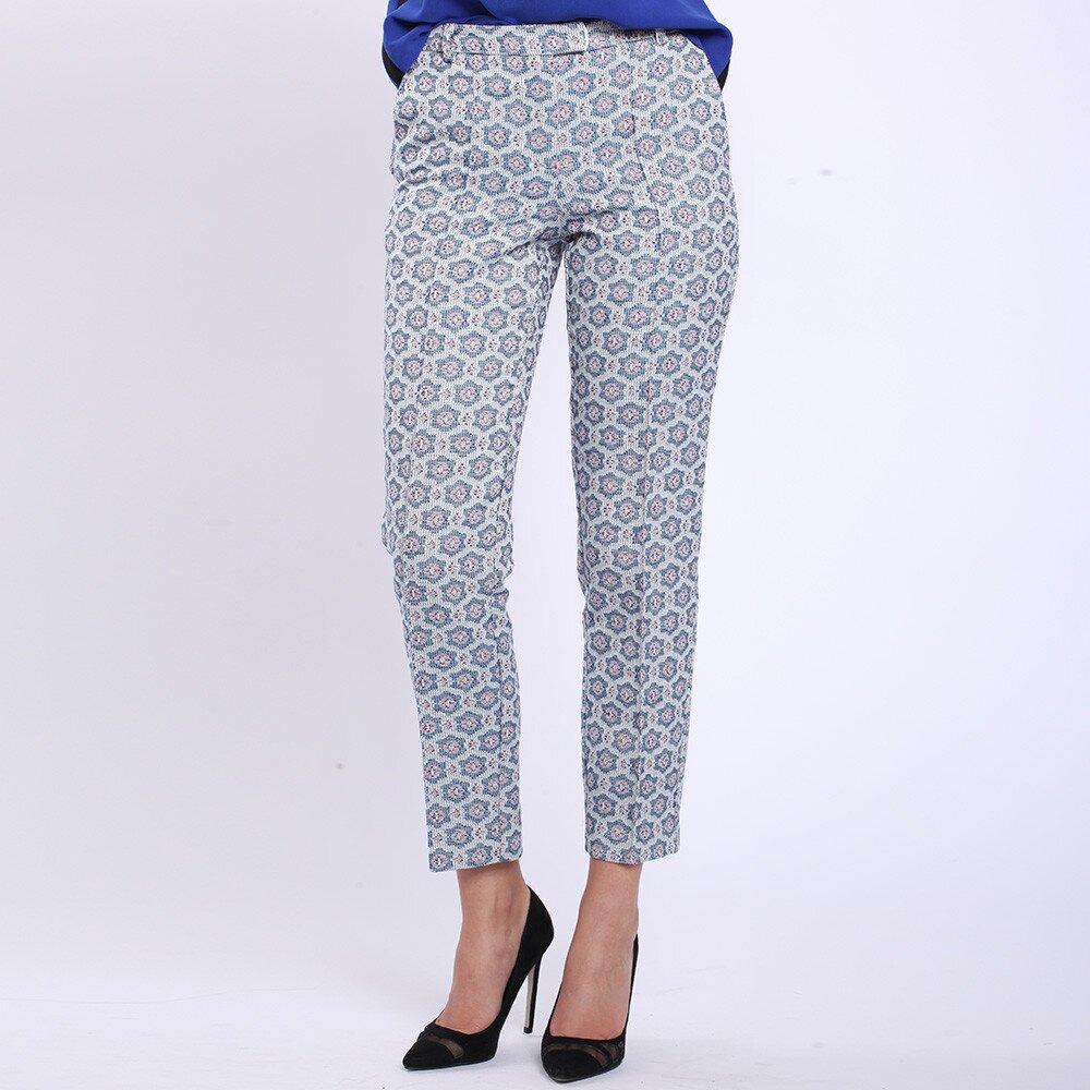 20697e379514 Dámske modré vzorované nohavice Melli London