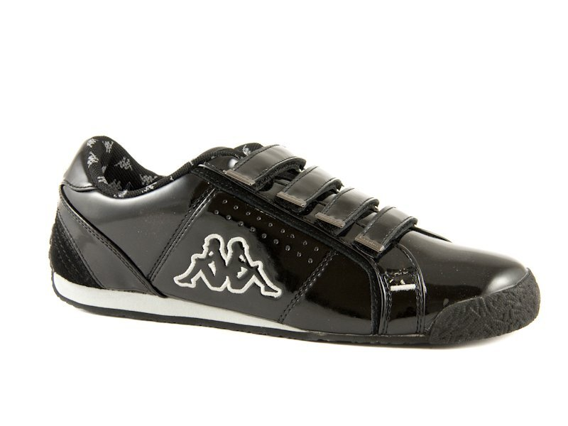 Čierne lesklé tenisky Kappa Rhome V  7cc4bcbbfb6