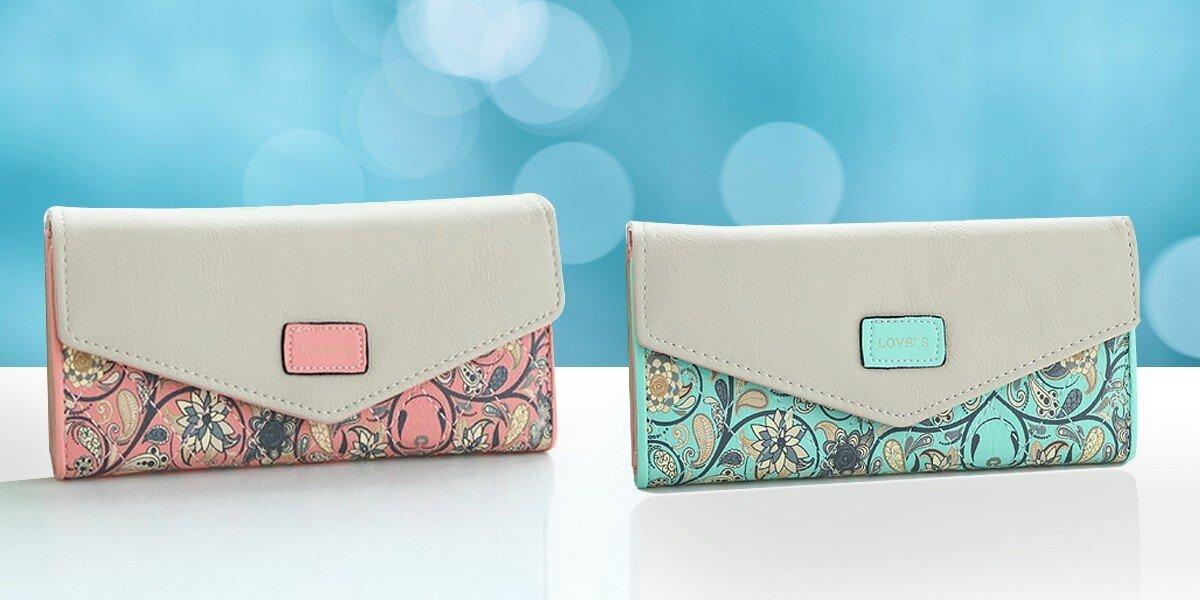 50291effa9ae Dámske elegantné kvietkované peňaženky
