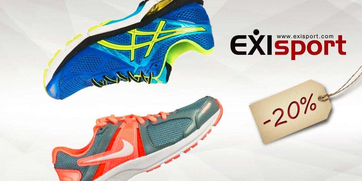 a6e2f64341d5 20% zľava na obuv v predajniach EXISPORT