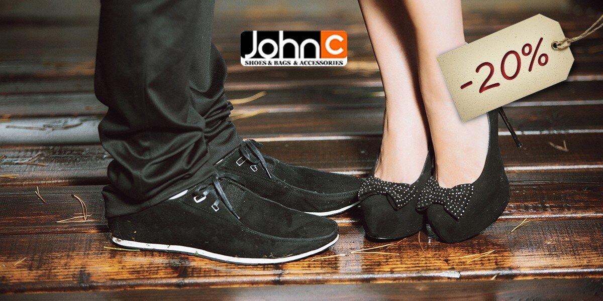 e8fa0e3fc1 20 % zľava na obuv v predajniach JOHNC