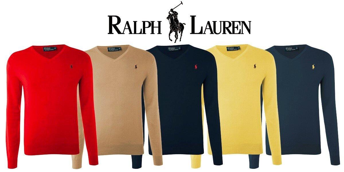 Pánské svetre Ralph Lauren s véčkovým výstrihom  280f8a02b75
