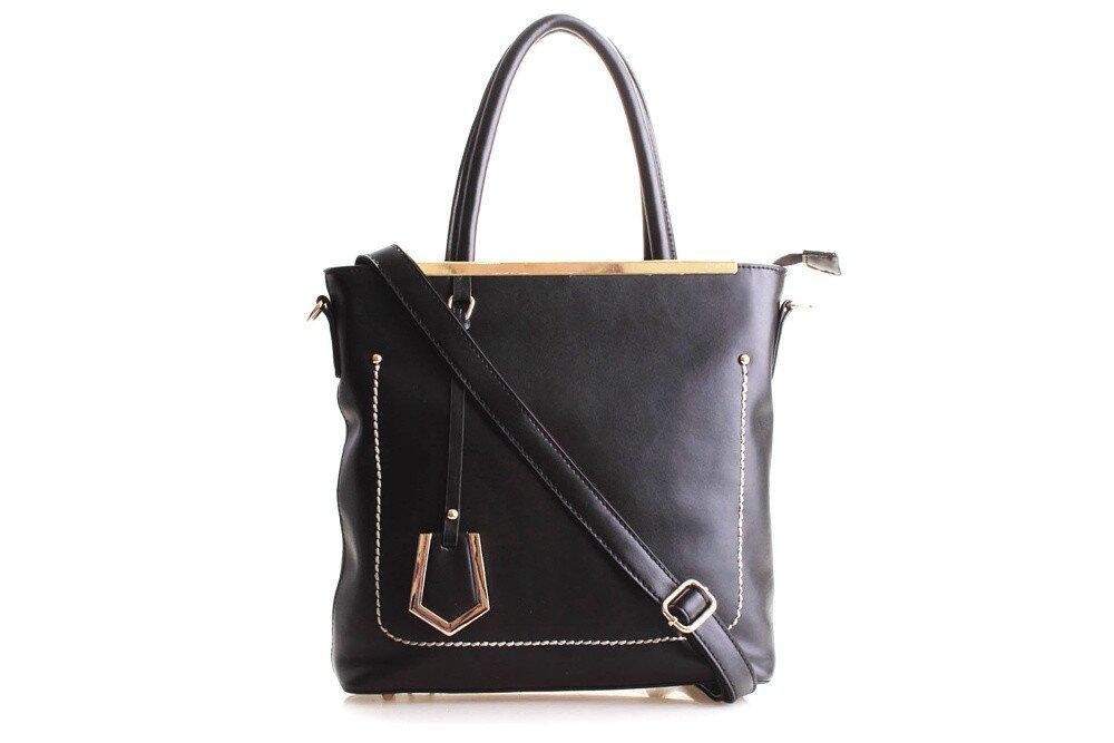 Dámska čierna kabelka Belle Bloom so zlatými detailami  59bce59b4b7