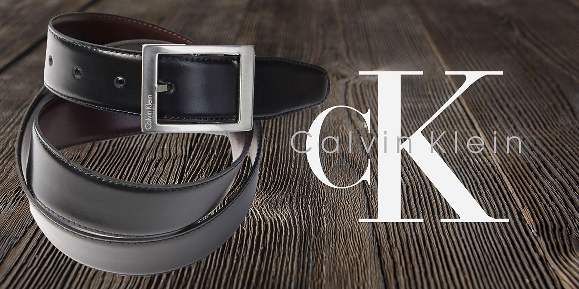 Pánske luxusné kožené opasky Calvin Klein  c73e94975ca