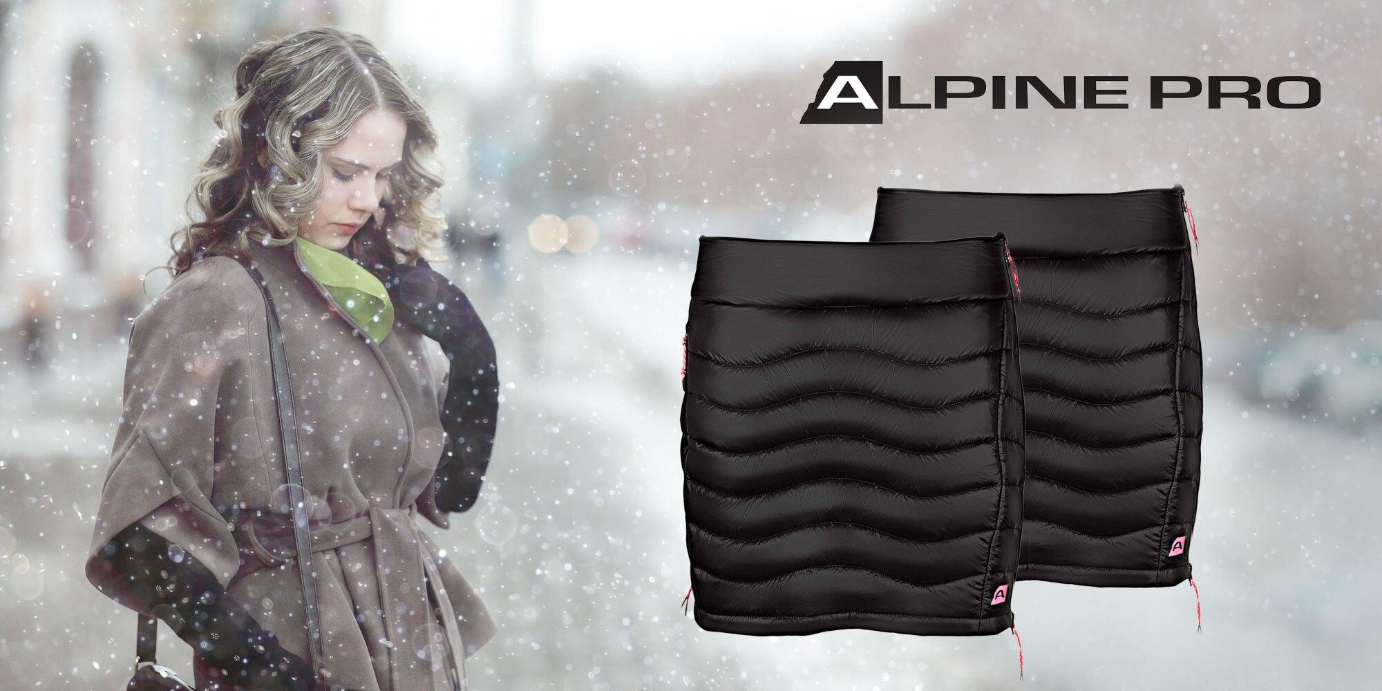 Zateplená čierna sukňa Alpin Pro Felipa  6bbc2a17b2