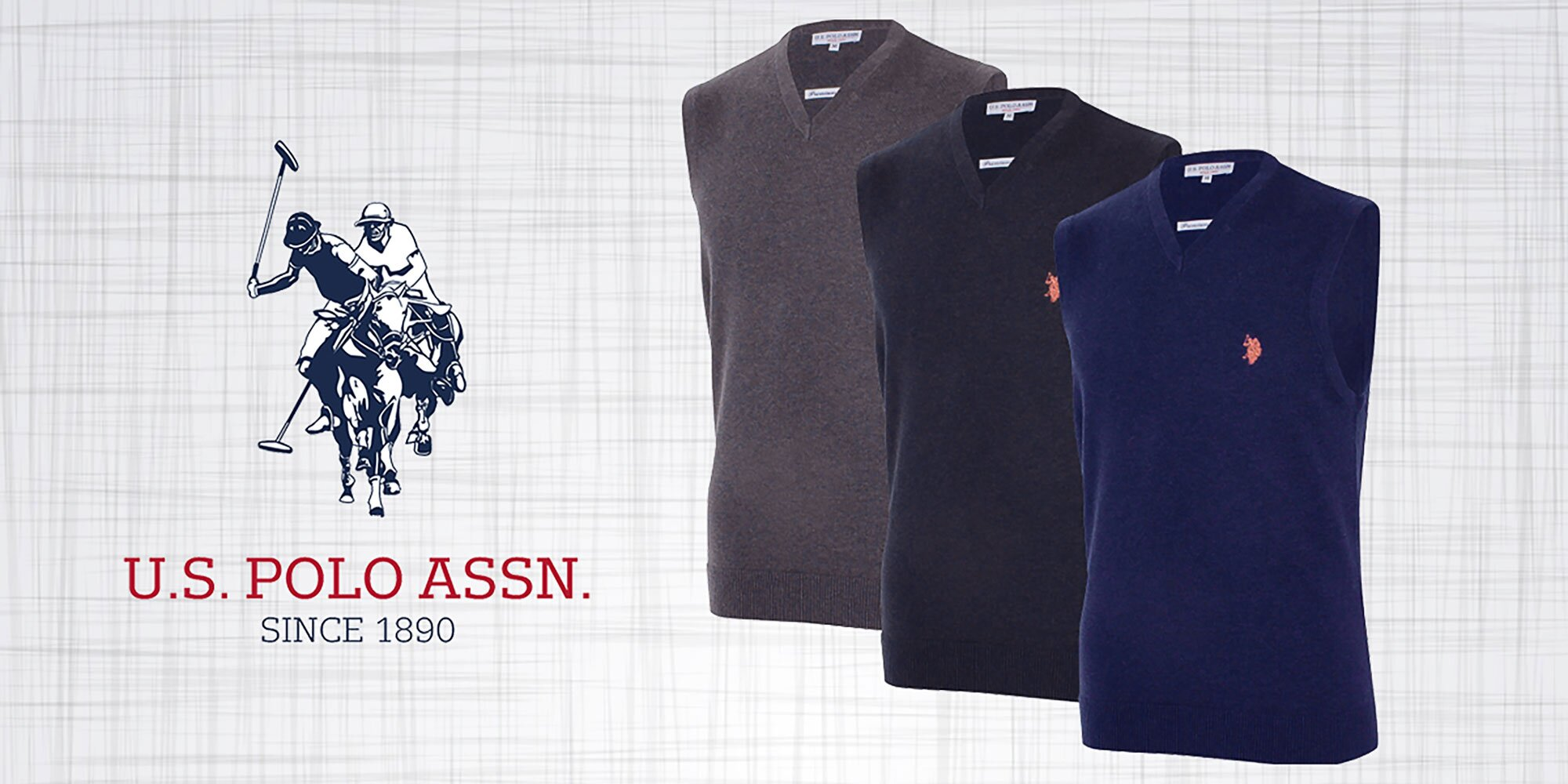 644f2f6ad6d7 Pánske svetre bez rukávov od značky U.S. Polo Assn