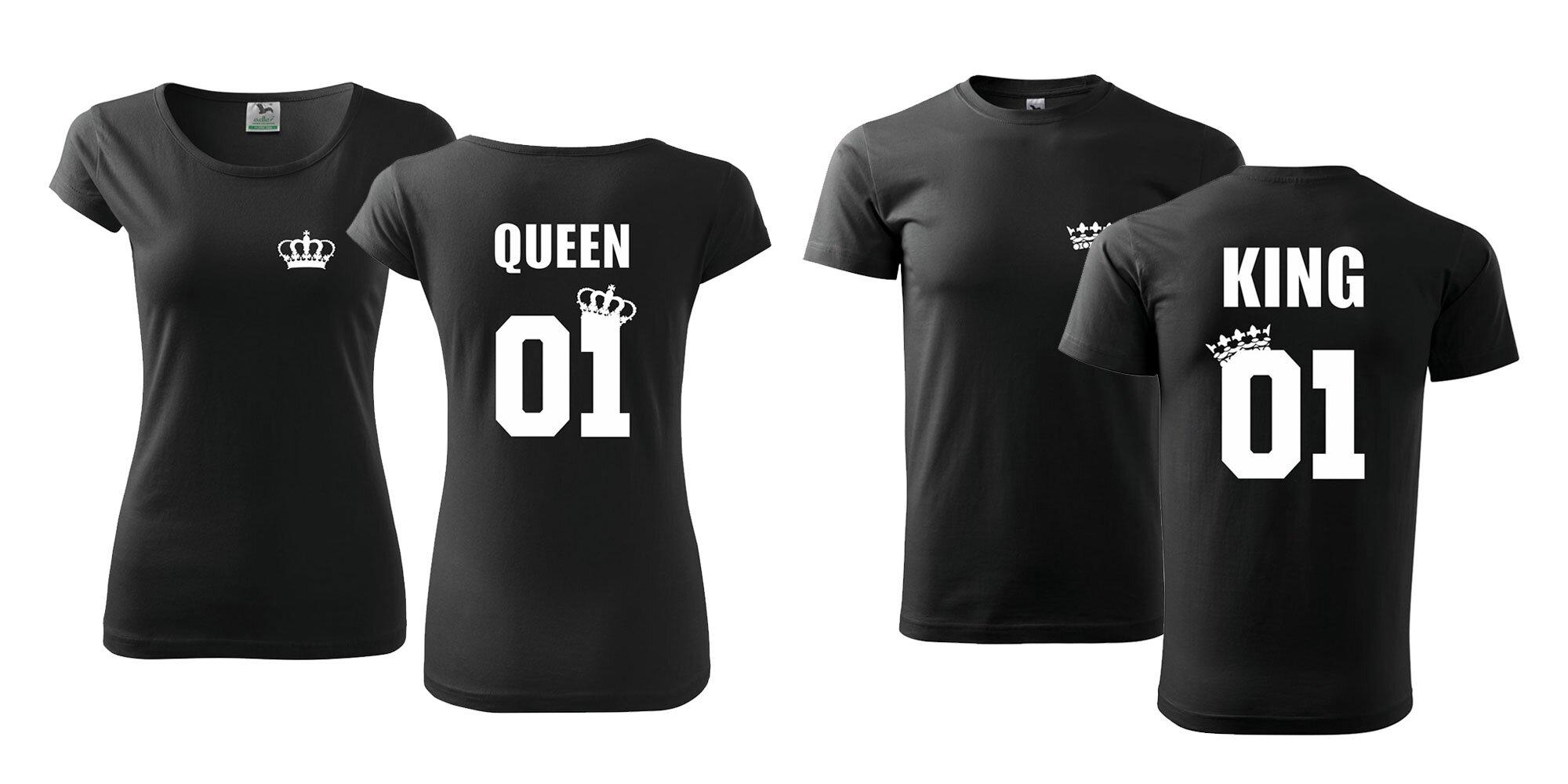 70794b29a090 Párové tričká s potlačou King   Queen pre dospelých a Prince   Princess pre  deti