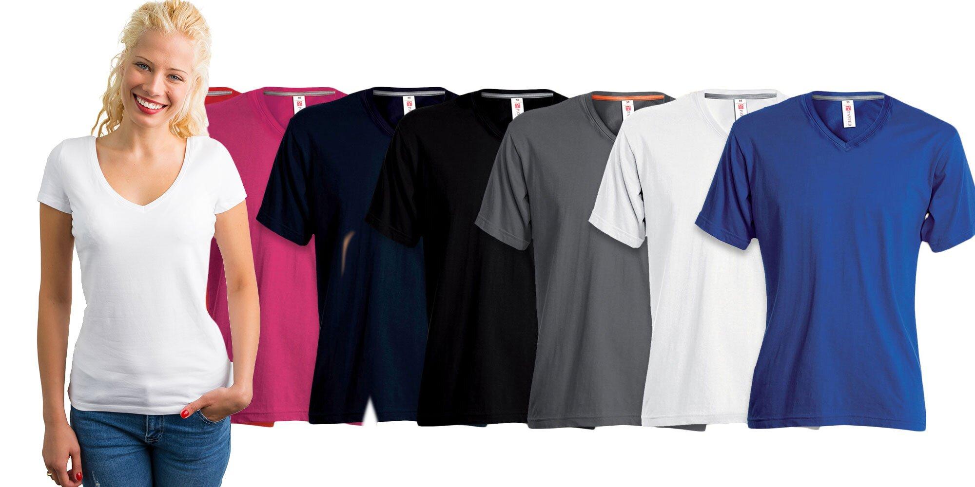 0f252cd0ef7a Klasické dámske tričko V-NECK s krátkym rukávom