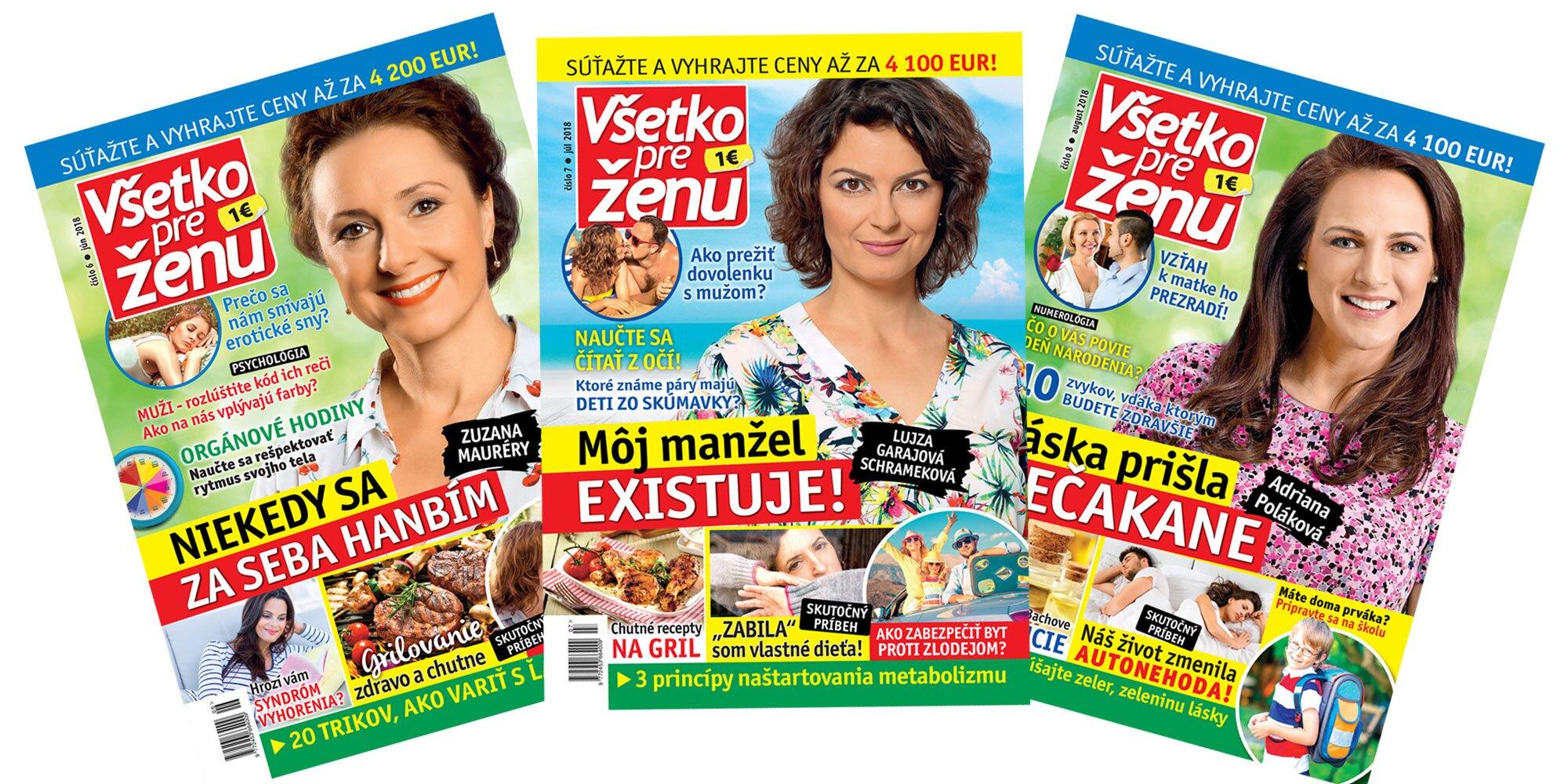 32ed6023dc58 Ročné predplatné časopisu Všetko pre ženu