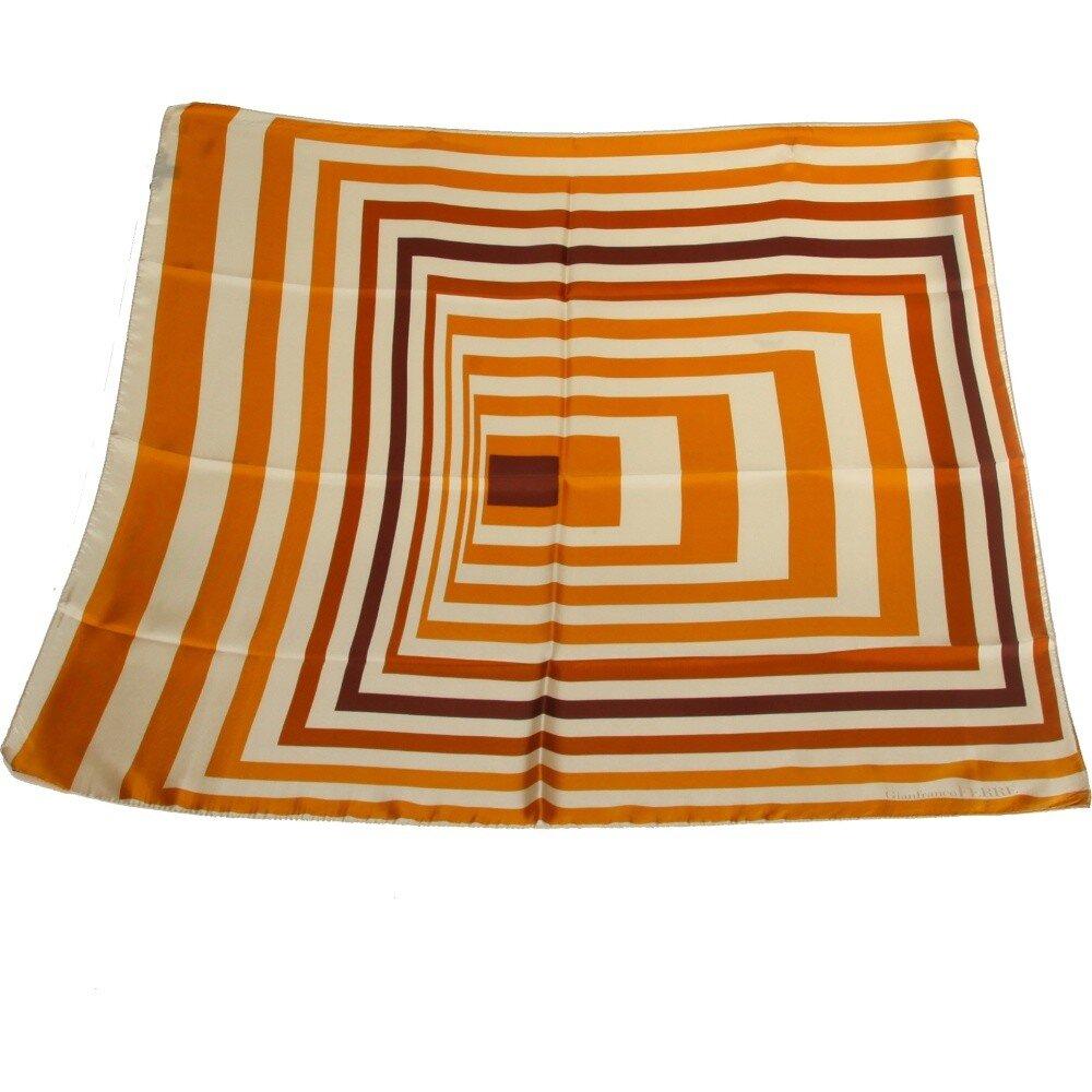Dámska karamelová hodvábna šatka Gianfranco Ferré s grafickým vzorom ... bedf8abd38