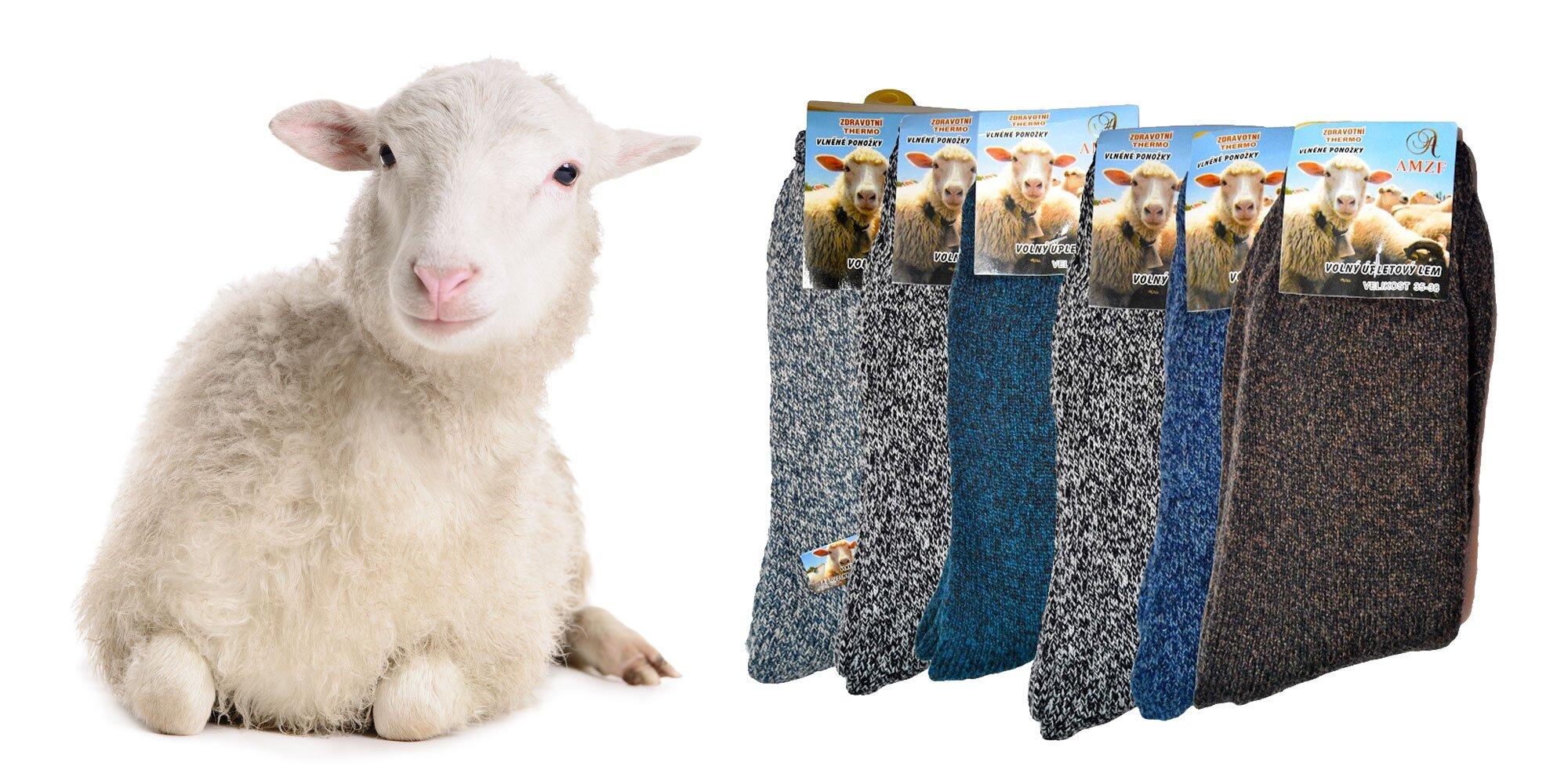 Ponožky z ovčej vlny pre dámy i pánov  95e9191fbf