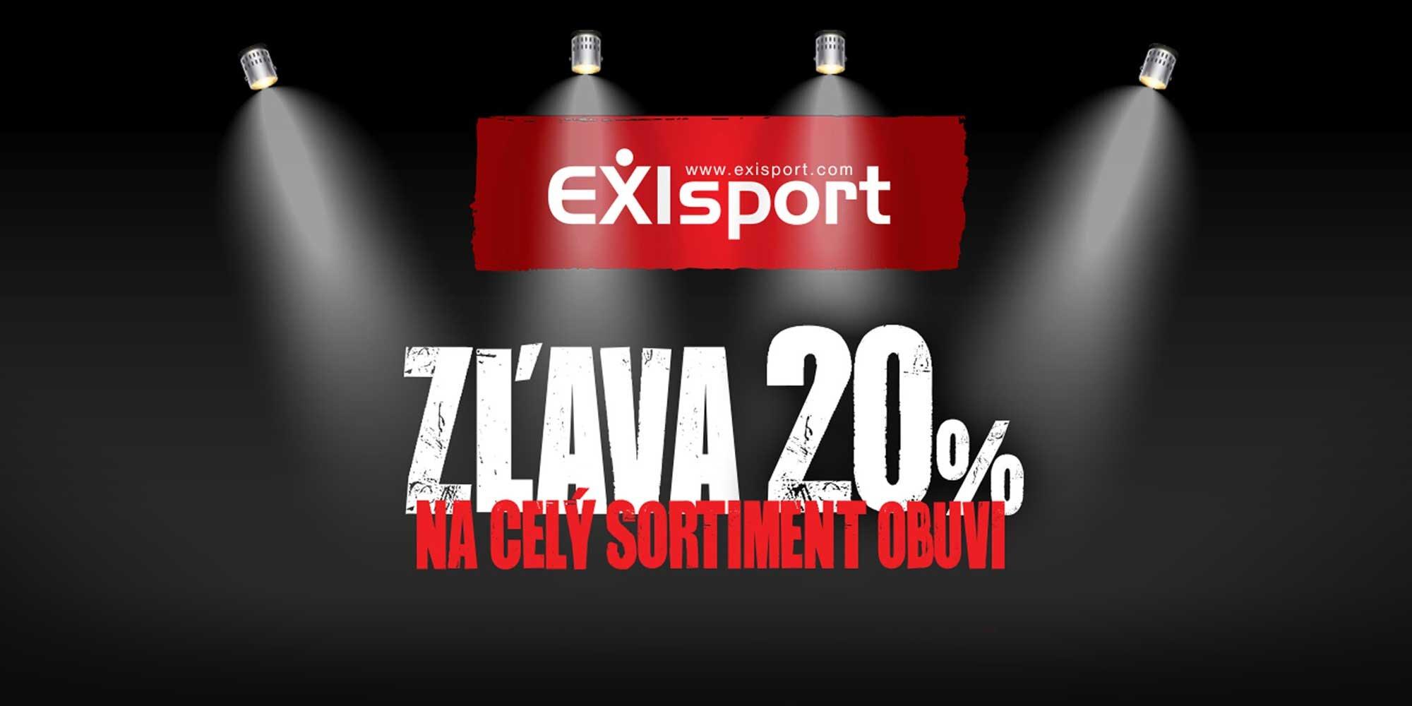 e04210bba01a8 20 % Zľava na nákup obuvi v EXIsport   Zlavomat.sk