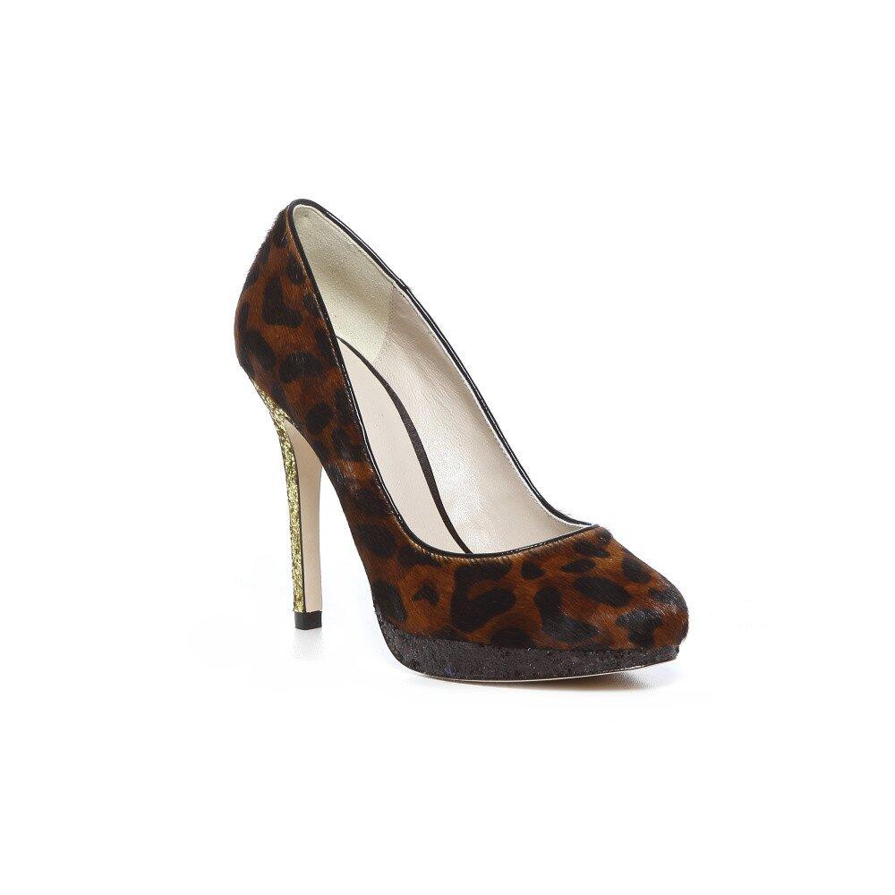 b736454ac490 Topánky na vysokom opätku Bourne s leopardím vzorom